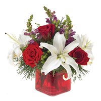 Holiday Greetings flower bouquet (BF67-11KM)